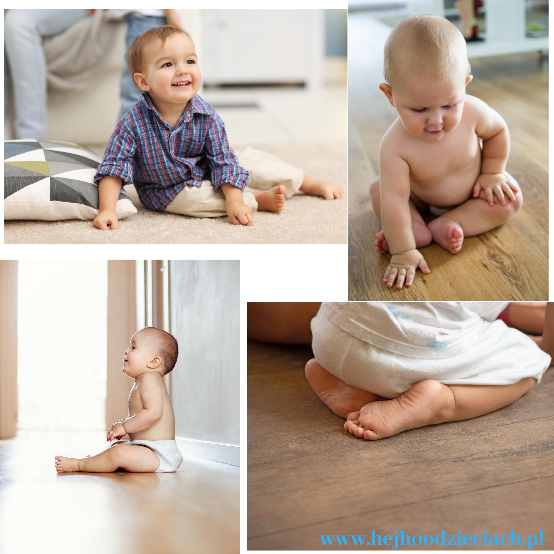 sadzanie niemowląt