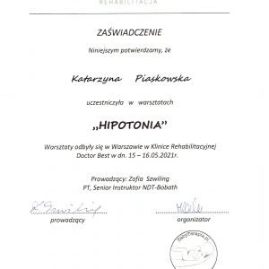 hipotonia